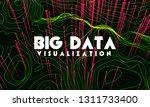 big data visualization. trendy... | Shutterstock .eps vector #1311733400