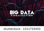 big data visualization. trendy... | Shutterstock .eps vector #1311733403