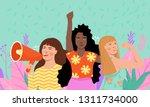feminism  girl power ... | Shutterstock .eps vector #1311734000