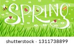 spring cartoon landscape with... | Shutterstock .eps vector #1311738899