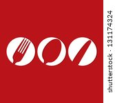 restaurant menu design whit... | Shutterstock .eps vector #131174324