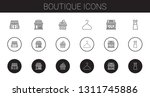 boutique icons set. collection... | Shutterstock .eps vector #1311745886