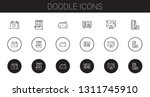 doodle icons set. collection of ...