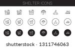 shelter icons set. collection... | Shutterstock .eps vector #1311746063