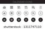 calendar icons set. collection...