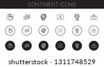 continent icons set. collection ...   Shutterstock .eps vector #1311748529