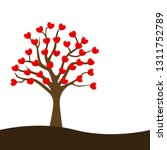 love tree growing concept... | Shutterstock .eps vector #1311752789