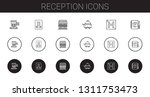 reception icons set. collection ... | Shutterstock .eps vector #1311753473