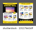 2 sides flyer template for sale ... | Shutterstock .eps vector #1311766169