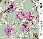 Spring Bouquet Seamless Pattern....