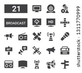 broadcast icon set. collection... | Shutterstock .eps vector #1311770999