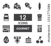 gourmet icon set. collection of ... | Shutterstock .eps vector #1311771086