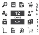 add icon set. collection of 12... | Shutterstock .eps vector #1311771206