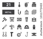 metal icon set. collection of... | Shutterstock .eps vector #1311772433