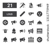 loud icon set. collection of 21 ... | Shutterstock .eps vector #1311775949