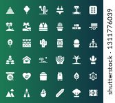 tree icon set. collection of 36 ... | Shutterstock .eps vector #1311776039