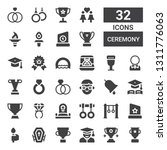 ceremony icon set. collection... | Shutterstock .eps vector #1311776063