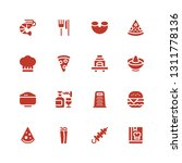 cuisine icon set. collection of ... | Shutterstock .eps vector #1311778136
