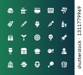 cuisine icon set. collection of ... | Shutterstock .eps vector #1311779969