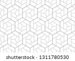 the geometric pattern with... | Shutterstock . vector #1311780530