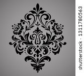 damask graphic ornament. floral ... | Shutterstock . vector #1311780563