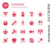 cooking icon set. collection of ... | Shutterstock .eps vector #1311781856