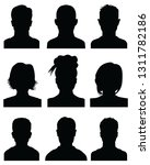 black silhouettes of human... | Shutterstock .eps vector #1311782186