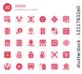 www icon set. collection of 30...   Shutterstock .eps vector #1311783260