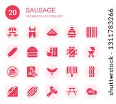 sausage icon set. collection of ... | Shutterstock .eps vector #1311783266