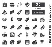 nutrition icon set. collection... | Shutterstock .eps vector #1311783389