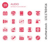 audio icon set. collection of... | Shutterstock .eps vector #1311783416