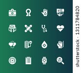 heartbeat icon set. collection... | Shutterstock .eps vector #1311784820