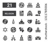 religion icon set. collection... | Shutterstock .eps vector #1311785006