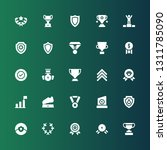 honor icon set. collection of... | Shutterstock .eps vector #1311785090