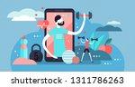 fitness app vector illustration....   Shutterstock .eps vector #1311786263