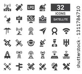 satellite icon set. collection... | Shutterstock .eps vector #1311786710