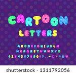 cartoon alphabet neon color... | Shutterstock .eps vector #1311792056