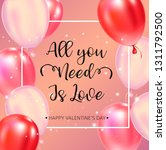 happy valentines day typography ... | Shutterstock . vector #1311792500
