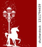 christmas magic silhouette... | Shutterstock .eps vector #1311794459