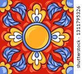 mexican talavera ceramic tile... | Shutterstock .eps vector #1311795326