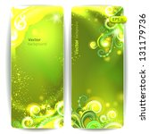vector set of green banners... | Shutterstock .eps vector #131179736