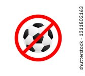 forbidden no play football icon ...