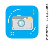 camera flat color icon. modern...