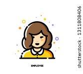 female user avatar of employee. ... | Shutterstock .eps vector #1311808406