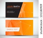 orange modern abstract business ... | Shutterstock .eps vector #131180909