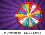 realistic 3d spinning fortune...   Shutterstock .eps vector #1311812996