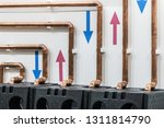 copper pipes and fittings for... | Shutterstock . vector #1311814790