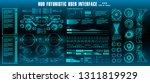 hud futuristic green user... | Shutterstock .eps vector #1311819929