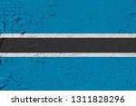 botswana painted flag....   Shutterstock . vector #1311828296