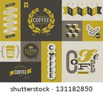 Stock vector coffee labels and badges collection of vector design elements 131182850